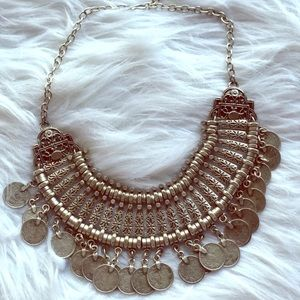 Silver Coined Necklace